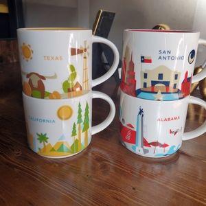 4 starbucks you are here mugs